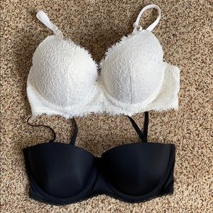Two Aerie push up bras; 36D